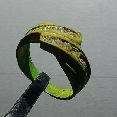 Ancient Ring Bronze Viking Rare Legionary Extremely Old Ring Authentic Artifact