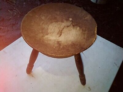 antique milking stool antique Scottish Milking Stool antique wooden stool