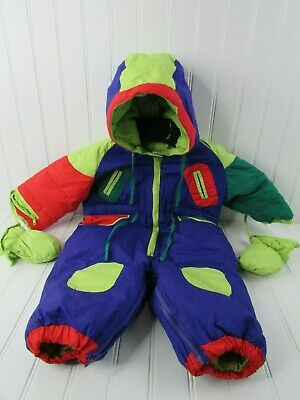 Brambilla France Toddler Baby Down Snowsuit Vintage 1980s 1990s
