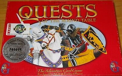 1995 Quests of the Round Table Adventure Card Game Gamewright 100% complete MINT