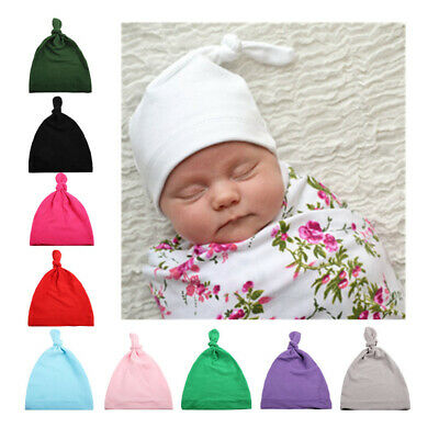 Newborn Child Baby Toddler Infant Kids Boy Girl Cotton Knot Soft Beanie Hat Cap
