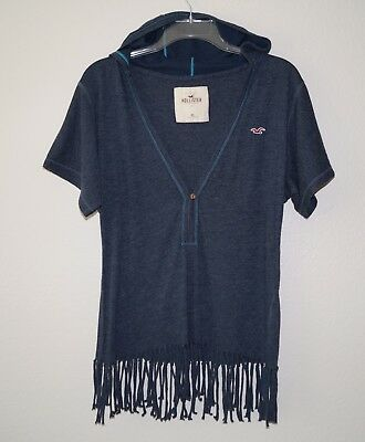 New Hollister Women's Hoodie Tee Relaxed Fit Size XS