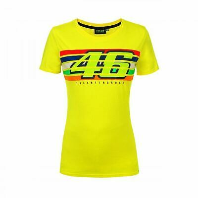 New Official Valentino Rossi VR46 Navy Womans T-Shirt VRWTS 153302