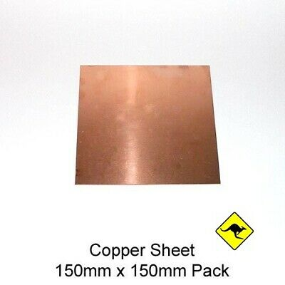 Copper Sheet 1 mm (110) 15 cm x 15 cm peelaway protecion