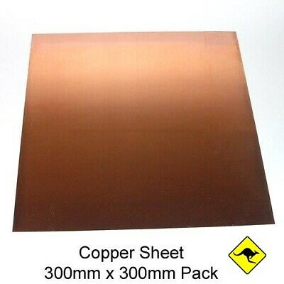 Copper Sheet 1.2 mm (110) 30 cm x  30 cm  99.9%