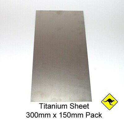 Titanium Sheet 0.5mm 15cm x 30cm
