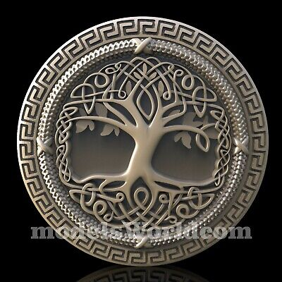 3D Model STL for CNC Router Artcam Aspire Tree Life Celtic Panel Cut3D Vcarve