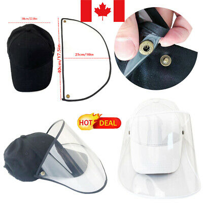 CA Safety Protective Hat Head-mounted Transparent Anti-Dust Full Face Cover Cap