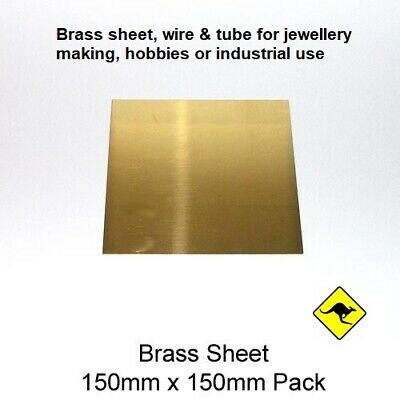 Brass Sheet 0.5 mm (260) 15cm x 15cm