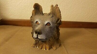 1997 Limited Edition Bill Vernon Wolf Tree Wood Sculpture 5""
