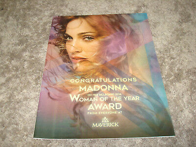 MADONNA 2016 congrats ad for Billboard's Woman of the Year from Maverick