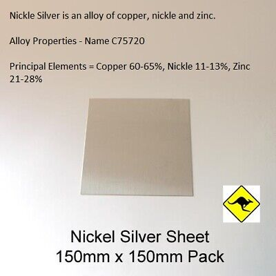 Nickel Silver Sheet 1.0mm 15cm x 15cm