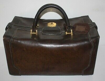 Large Very Rare  Mens Vintage Gucci Travel Bag - Pigskin Leather - ca. 1960