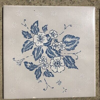 Ceramic Washstand Fireplace Vintage Floral Tile