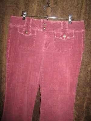 ❤️ ❤ BE BOP Juniors Size 13 Rose Color Corduroy Casual Pants CORDS GUC