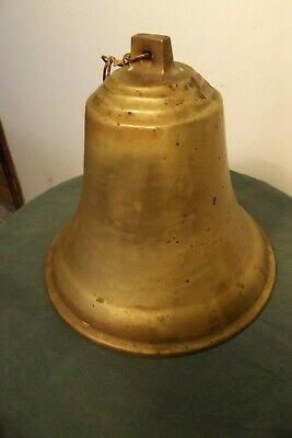 Vintage Large Cast Brass/Bronze Ships Bell Ship Boat Nautical Maritime Heavy
