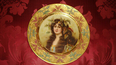 "Beautiful Antique  Handpainted Porcelain  Royal Vienna Cabinet Plate  ""Bromeer"""