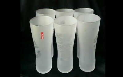 Set of 6 Quality Frosted Peroni Beer Glasses 300ml
