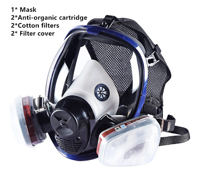 Gas Mask Survival Safety Respiratory Emergency Filter Protection For 3M 6800