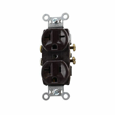 Pass & Seymour 5890 Hard Use Spec Grade Combo Receptacle, 20A, 125/250V, Brown