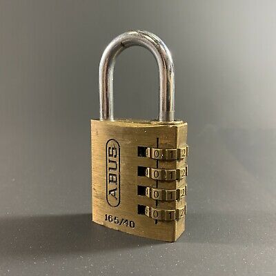 """New Solid Brass Padlock With Cover abus Lock 85611 1-1//2/"""" W No T84//40 KBL KBR"""