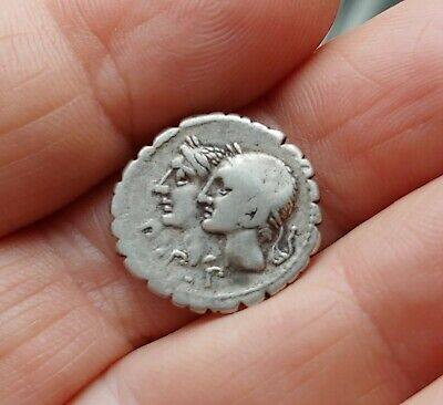 Ancient Roman Republic Coin F. Sulpicico Silver Denarius 106BC  Beautiful !!!