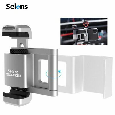 Selens Alloy Monopod Tripod Mount Adapt Attachment Clamp Cell Phone Holder Clip