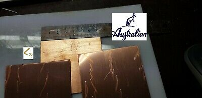 Copper Sheet 0..55 mm (110) 7.5 cm x 7.5 cm bulk lots