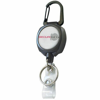 Securikey Retractor With ID Badge Strap & Ring (RSK)