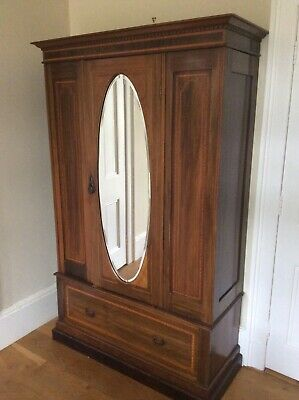 Beautiful mahogany mirror fronted bedroom wardrobe