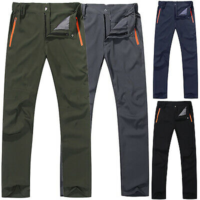 Mens Soft Thermal Trousers Tactical Waterproof Cargo Combat Work Hiking Pants
