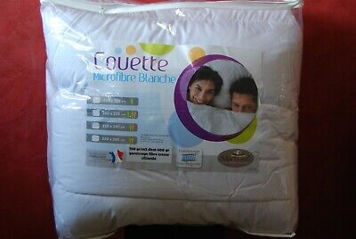 COUETTE TRÈS CHAUDE 240/220  550g/m2  microfibres Made in France EXTRAORDINAIRE