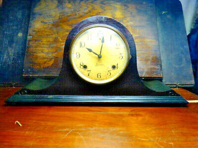 Antique SESSIONS 8 Day Mantle Chime Clock with Key Early 1900's Half Hour Strike