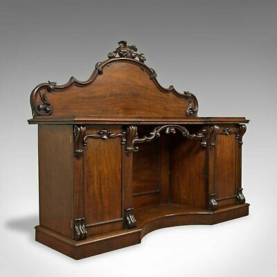 Large Antique Sideboard, English, Victorian, Mahogany, Dresser, Circa 1850