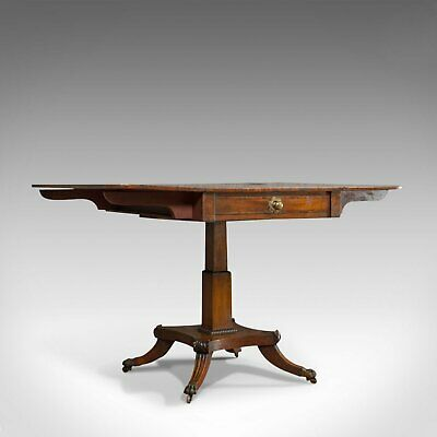 Antique Pembroke Table, English, Mahogany, Drop Leaf, Occasional, Regency