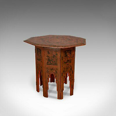Antique Occasional Table, Victorian, Chinese Elm, Octagonal, Coffee, Moorish