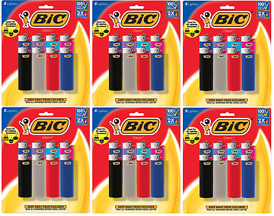 BIC Classic Lighter, Assorted Colors, 48 Pack (Colors May Vary)