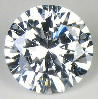 5.10 ct 9 MM Cubic Zirconia White color Round cut loose gemstone