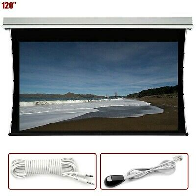 "120"" 16:9 Electric Motorized Projection Projector Screen In Ceiling Mount White"
