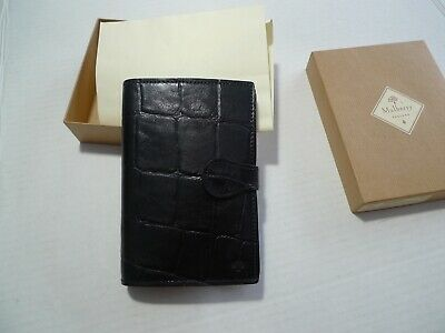 Mulberry-  Pocket Book Leather  Planner- Congo- 1995 New Old Stock --Made In Uk