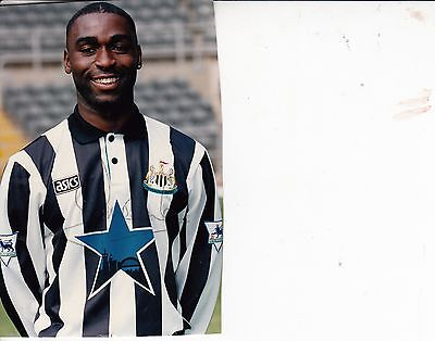 ANDY COLE In Newcastle United Shirt HAND SIGNED Autograph COLOUR PHOTOGRAPH