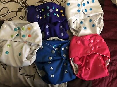 5 Lalabye Baby one-size cloth diapers With Inserts