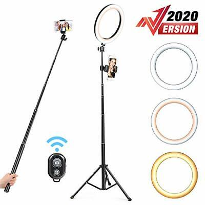 """10.2"""" Selfie Ring Light Dimmable With Tripod Stand Cell Phone Holder Mini Led"""