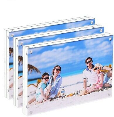 Premium Acrylic Photo Frame 5 x 7 (3-Pack) Box Package