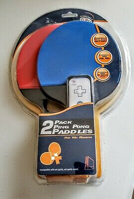 Wii 2 Pack Ping PongPaddles for Wii Remote. New in Package!