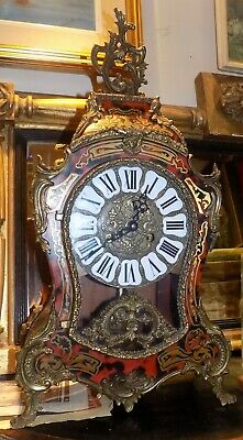 Large Boulework Clock  Rococo Style With Faux Tortoiseshell And Brass