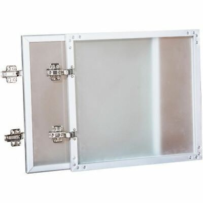 Lorell Wall-Mount Hutch Frosted Glass Door 59576