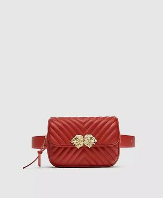 ZARA CROSSBODY BELT bag with lion details New with Tag