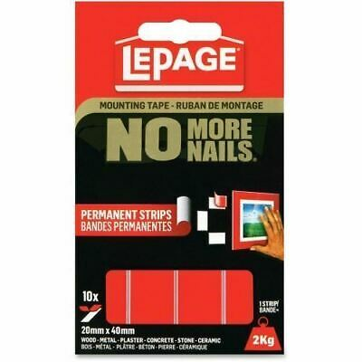 LePage No More Nails Mounting Tape Permanent Strips 1873067