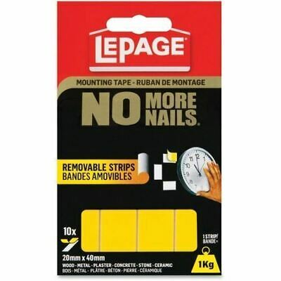 LePage No More Nails Removable Tape Permanent Strips 1873073